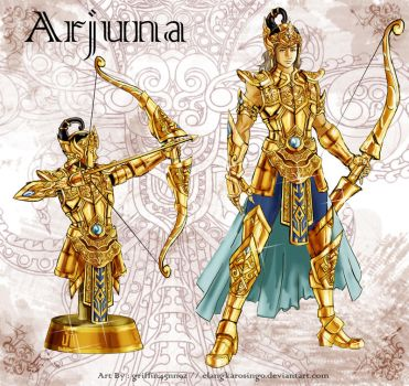 The Golden Armor of Arjuna by elangkarosingo