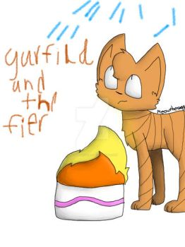 Garfild and the fier by MEOWTHESWAG
