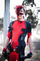 Deadpool cosplay - Battle pose by Soylent-cosplay