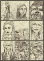Labyrinth ATC Sketches by mleiv