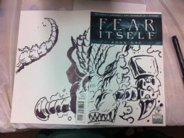 Fear Itself sketch cover by KaijuSamurai