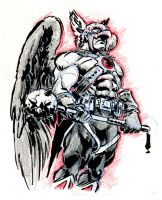 Sketch jam - Hawkman by mistermoster