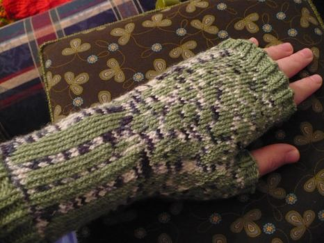 Paper Birtch Fingerless Gloves by NightOwlQueen