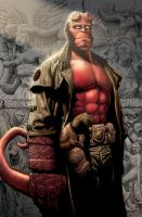 hellboy color cover by WestStudio3