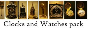 Watches and Clocks pack by syccas-stock
