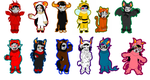 .:HalloweenStuck Stickers:. by GreaserMelons