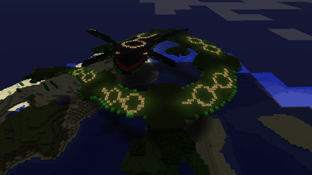 Night time rayquaza in MC by that1p3rson