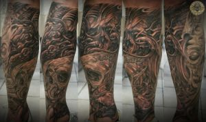 4 step horror bio skull eye by 2Face-Tattoo