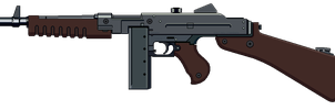 Submachine Gun 1946 with stock by Ruiner3000