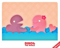 Dino and The Whale by DinoCacktus