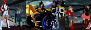 Motorcity: Ladies' Triptych by Rice-Lily