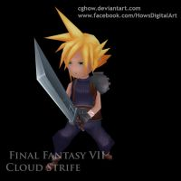 Final Fantasy VII Cloud combat idle animation by CGHow