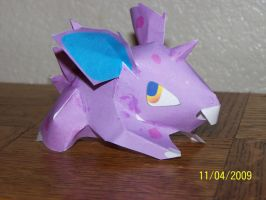 nidoran male papercraft by Draco3013