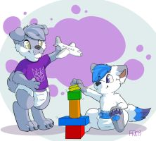 Playtime with Mukian by Scamp-Breezy