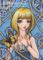 32. ACEO - Papilio machaon by Michaela9