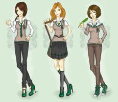 new Slytherin uniform by PollWybie
