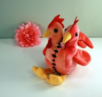 Two Headed Two Tailed Rooster by Jadetiger