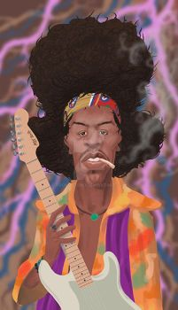 Jimi Hendrix by toongsteno