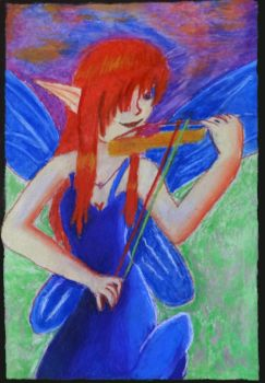 Lily playing her violin by Gordo4ever