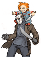 Chucky and Jason by GoreChick