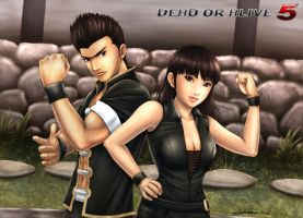 Jann Lee and Lei Fang DOA5 by doaseiki