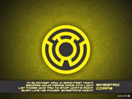 Sinestro Corps Wallpaper by Willianac