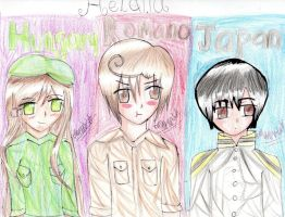 APH-hungary, romano and japan by ReveVen