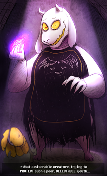 UF - Toriel, Caretaker of the RUINS (Trade) by Atlas-White