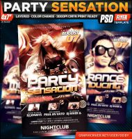 Party Sensation Flyer Template by deiby