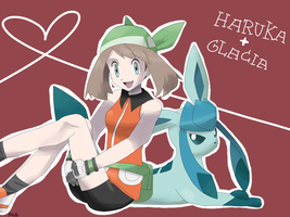 May + Glaceon by RocketHaruka