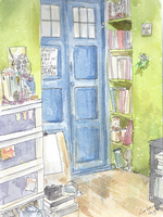 TARDIS in my room by Lahara