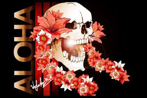 Aloha skull by DZNFlavour