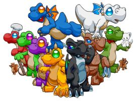 Dragon Tails group picture by sycle