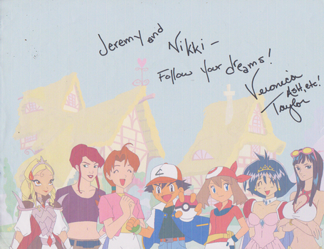 Veronica Taylor autograph Drawing by Dinalfos5