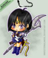 [OLD] Super Sailor Saturn Keychains by ImHisEternalAngel