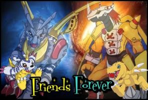 Agumon and Gabumon Friends Forever! by KyuubiVictoria