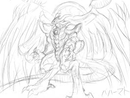 Bahamut Quick Sketch by zephyron
