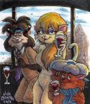Cats With Wine by Phraggle