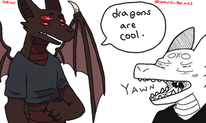 Being a dragon is cool by TOBI707