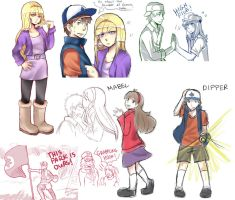 Gravity Falls Art Dump by mpascua123
