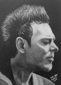 Richard Z. Kruspe (white-on-black) by xCookie93