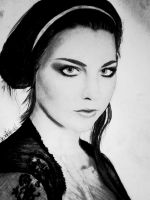 Amy Lee : pencil and charcoal portrait by DeadlyAngel-Drawings