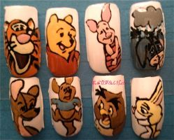 Winnie The Pooh Nails by SoCUTEicleNails