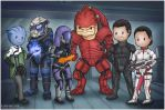 Mass Effect Squad by Isriana