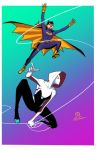 Spider Gwen and Batgirl by JoeyVazquez