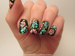Floral Nails by QueenAliceOfAwesome