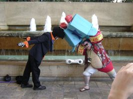 TS Franky and Brook 45 degress son! by ChibodeeCosplay
