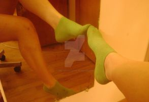 These lime green socks don't smell so fresh by ArielTaylorTootsie