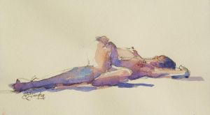 Resting in watercolour by edtheduc