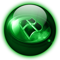 Windows 7 Green Glass Orb by climber07
